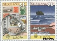 Nederland NL 1179#1180  1979 C.E.P.T.- Geschiedenis posterijen  cent  Gestempeld