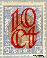 Nederland NL 119  1923 Opruimingsuitgifte 10#17½ cent  Gestempeld