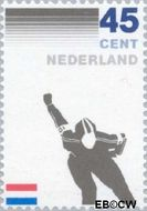 Nederland NL 1261#  1982 Kon. Ned. Schaatsrijders Bond  cent  Gestempeld