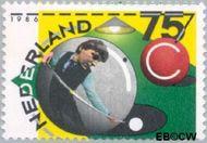Nederland NL 1359  1986 Kon. Nederlandse Biljartbond 75 cent  Gestempeld