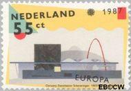 Nederland NL 1376  1987 C.E.P.T.- Moderne architectuur 55 cent  Gestempeld