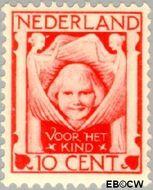 Nederland NL 143  1924 Kinderkopje tussen engelen 10+2½ cent  Gestempeld