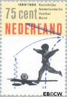 Nederland NL 1433  1989 Voetbalbond 75 cent  Gestempeld