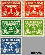 Nederland NL 144#148  1924 Vliegende Duif   cent  Postfris