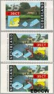 Nederland NL 1471a#1471c  1991 Boerderijen  cent  Gestempeld