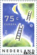 Nederland NL 1476  1991 C.E.P.T.- Europese ruimtevaart 75 cent  Gestempeld