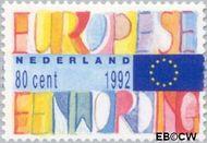 Nederland NL 1536  1992 Eenwording Europa 80 cent  Gestempeld