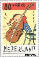 Nederland NL 1540  1992 Muziek maken 80+40 cent  Gestempeld