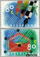 Nederland NL 1571#1572  1993 Tien voor uw brieven  cent  Gestempeld