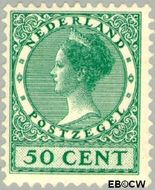 Nederland NL 161  1924 Koningin Wilhelmina- Type 'Veth' 50 cent  Gestempeld