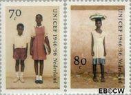 Nederland NL 1690#1691  1996 UNICEF  cent  Gestempeld