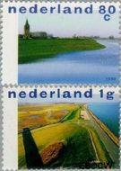 Nederland NL 1765#1766  1998 Nederland Waterland  cent  Gestempeld