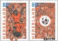 Nederland NL 1888#1889  2000 EK voetbal  cent  Gestempeld