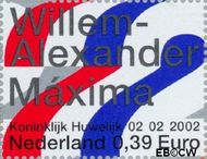 Nederland NL 2046b  2002 Koninklijk Huwelijk 39 cent  Postfris