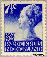 Nederland NL 206  1927 Rode Kruis 7½+3½ cent  Gestempeld