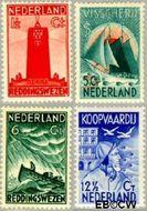 Nederland NL 257#260  1933 Zeemanszegels   cent  Gestempeld