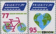 Nederland NL 2621#2622  2009 Europa en buiten Europa priority  cent  Gestempeld