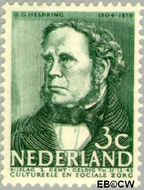 Nederland NL 306  1938 Bekende personen 3+2 cent  Gestempeld