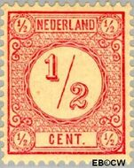 Nederland NL 30b  1894 Drukwerkzegels- cijfer ½ cent  Gestempeld