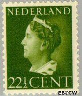 Nederland NL 340  1940 Wilhelmina- Type 'Konijnenburg' 22½ cent  Gestempeld