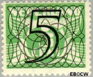 Nederland NL 357  1940 Cijfer type 'Guilloche' of ' tralie' 5 cent  Gestempeld