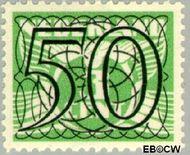 Nederland NL 367  1940 Cijfer type 'Guilloche' of ' tralie' 50 cent  Gestempeld
