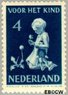 Nederland NL 376  1940 Kind met bloemen 4+3 cent  Gestempeld