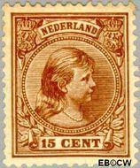 Nederland NL 39  1891 Koningin Wilhelmina- 'Hangend haar' 15 cent  Gestempeld