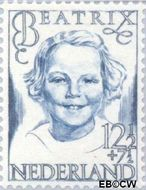 Nederland NL 459  1946 Prinsessen 12½+7½ cent  Postfris