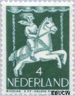 Nederland NL 470  1946 Kind in draaimolen 4+2 cent  Gestempeld