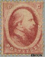 Nederland NL 5  1864 Koning Willem III- 2e emissie 10 cent  Gestempeld