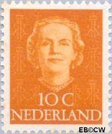 Nederland NL 520  1949 Koningin Juliana- Type 'En Face' 10 cent  Gestempeld