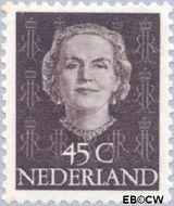 Nederland NL 530  1950 Koningin Juliana- Type 'En Face' 45 cent  Gestempeld