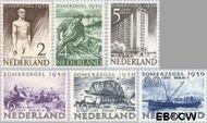 Nederland NL 550#555  1950 Wederopbouw   cent  Gestempeld