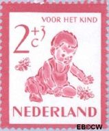 Nederland NL 563  1950 Kind en dieren 2+3 cent  Gestempeld