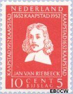 Nederland NL 580  1952 Riebeeck-monument 10+5 cent  Gestempeld