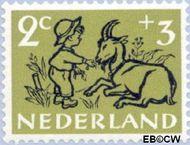 Nederland NL 596  1952 Kind en dier 2+3 cent  Gestempeld