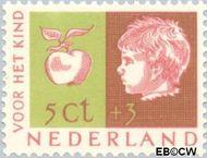 Nederland NL 613  1953 Kinderhoofden 5+3 cent  Gestempeld