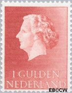 Nederland NL 637  1953 Koningin Juliana- Type 'En Profile' 100 cent  Gestempeld
