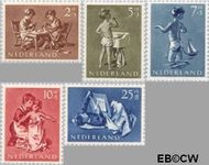 Nederland NL 649#653  1954 Opvoeding en leren   cent  Gestempeld