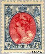 Nederland NL 65  1908 Koningin Wilhelmina- 'Bontkraag' 15 cent  Gestempeld