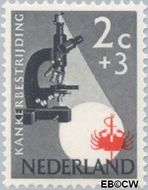 Nederland NL 661  1955 Kankerbestrijding 2+3 cent  Gestempeld