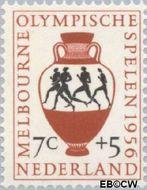 Nederland NL 678  1956 Olympische Spelen- Melbourne 7+5 cent  Gestempeld