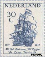 Nederland NL 694  1957 Ruyter, M.A. de 30 cent  Gestempeld