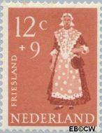 Nederland NL 710  1958 Klederdrachten 12+9 cent  Gestempeld
