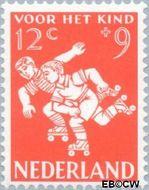 Nederland NL 718  1958 Kinderspel 12+9 cent  Gestempeld