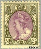 Nederland NL 75  1914 Koningin Wilhelmina- 'Bontkraag' 50 cent  Gestempeld