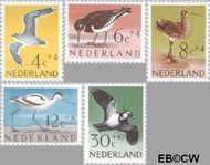 Nederland NL 752#756  1961 Vogels   cent  Gestempeld