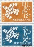 Nederland NL 757#758  1961 C.E.P.T.- Duiven in vlucht   cent  Postfris