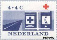 Nederland NL 795  1963 Rode Kruis 4+4 cent  Gestempeld